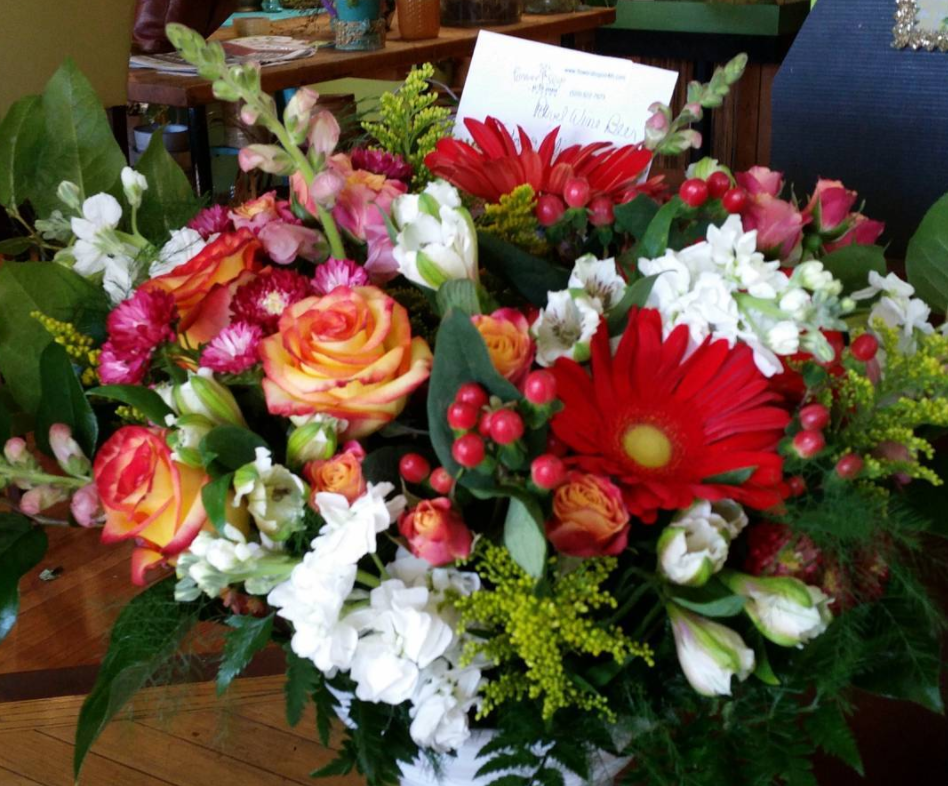 Flower Shop on 4th Avenue in Tucson, Arizona, will put something beautiful together for your sweetheart.