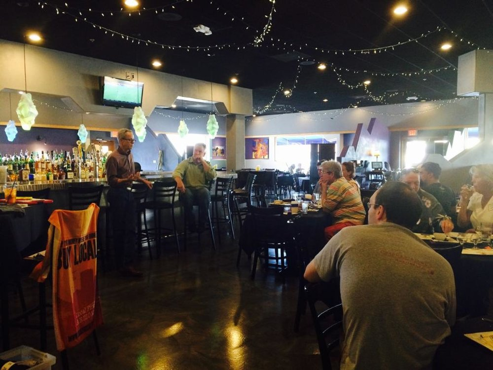 Pat Connors hosting a Whiskey Del Bac tasting for the Local First AZ Localist program