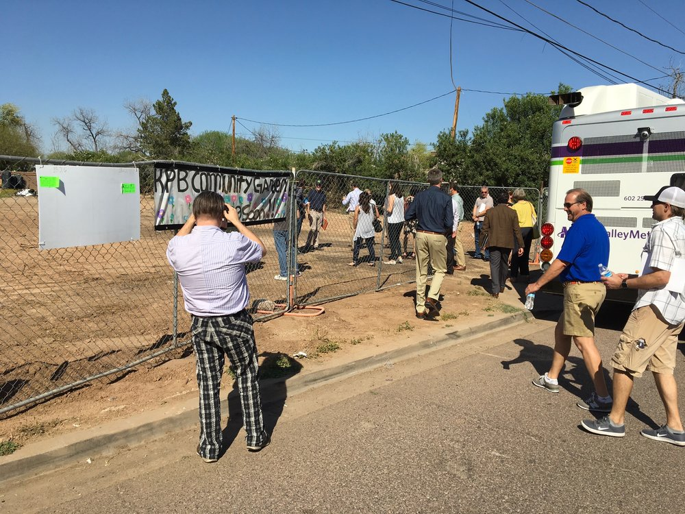 Attendees disembark at the new site of PHX Renews. Photo by Ryan Winkle