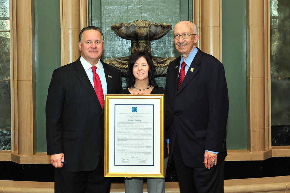 2014: Kimber named Citizen Leader of the Year by the International Economic Development Council.