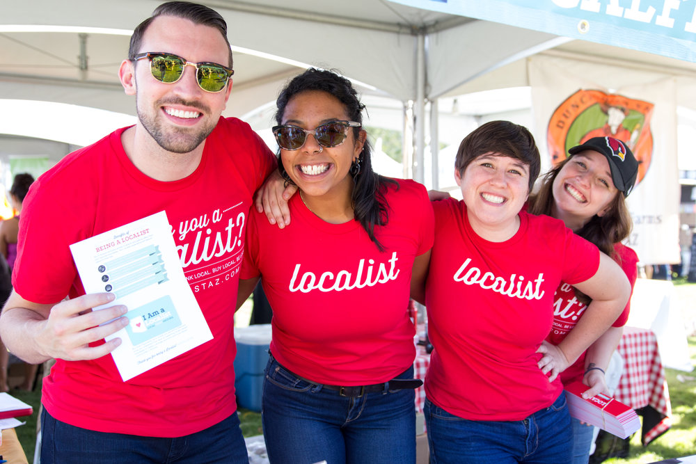 A group of Localists at the 2016 Fall Fest. Credit: Harrison Lai Photography.
