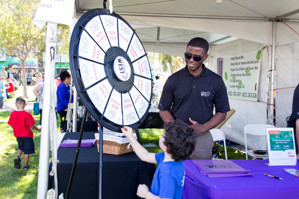 Credit Union West participating as a vendor at the 2016 Fall Fest. Credit: Harrison Lai Photography.