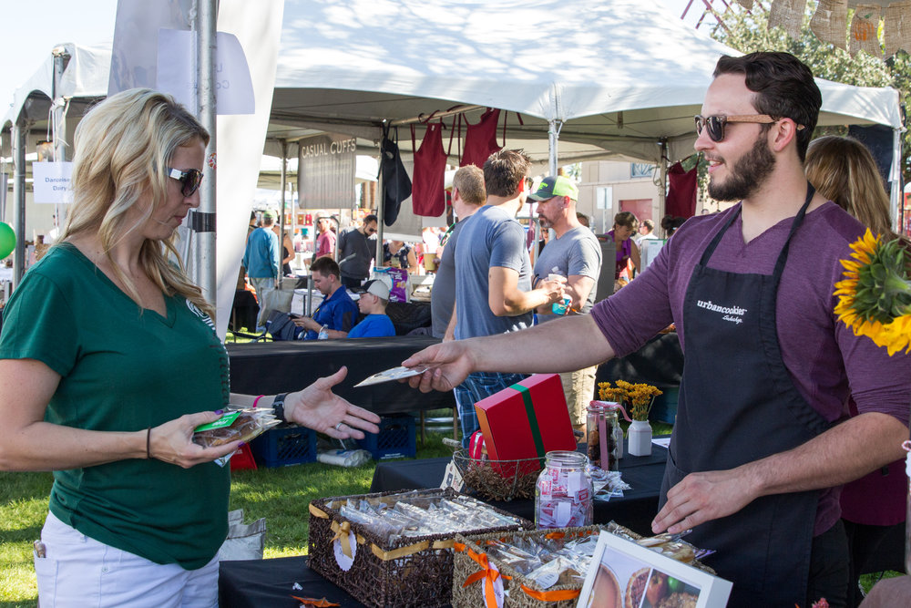 Urban Cookies participating as a vendor at the 2016 Fall Fest. Credit: Harrison Lai Photography.