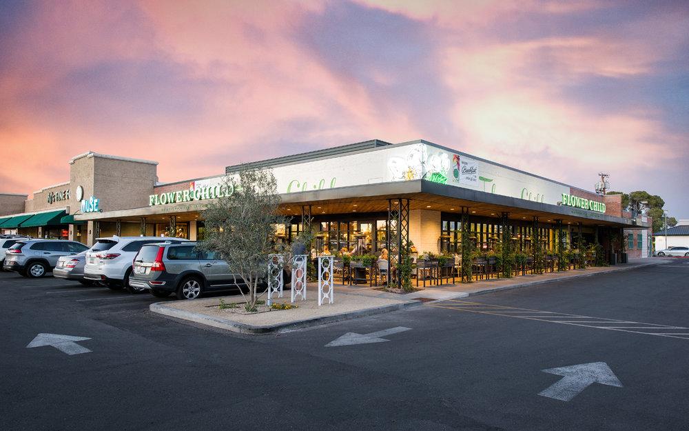 """Uptown Plaza,"" Uptown Phoenix, development, Vintage Partners; landscape architecture, Floor & Associates"