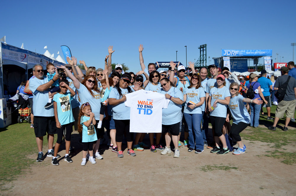 CopperPoint employees at the annual Juvenile Diabetes Research Foundation's fundraising walk.