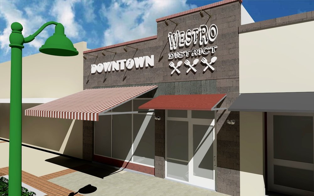 Rendering of Starmar Investments' Downtown Mesa facade improvements