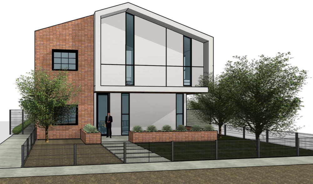 Rendering of Pint Ventures' fourplex, coming soon to the Roosevelt Neighborhood.