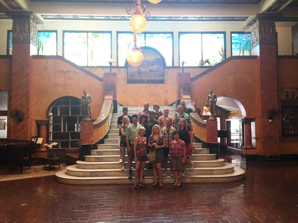 The group at the Gadsden Hotel
