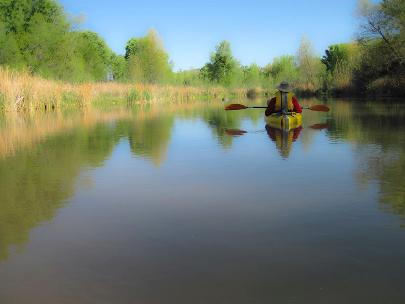 Bill Regner, Floating the Verde River. Photo Credit: Doug Von Gausig, Mayor of Clarkdale