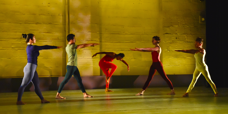 Dancers Left to Right: Aliya Kerimujiang, Miguel Lerma, Whitley Green, Kara Hestevold, Belle Ritter. Photo by Ben Ouriel, 2017