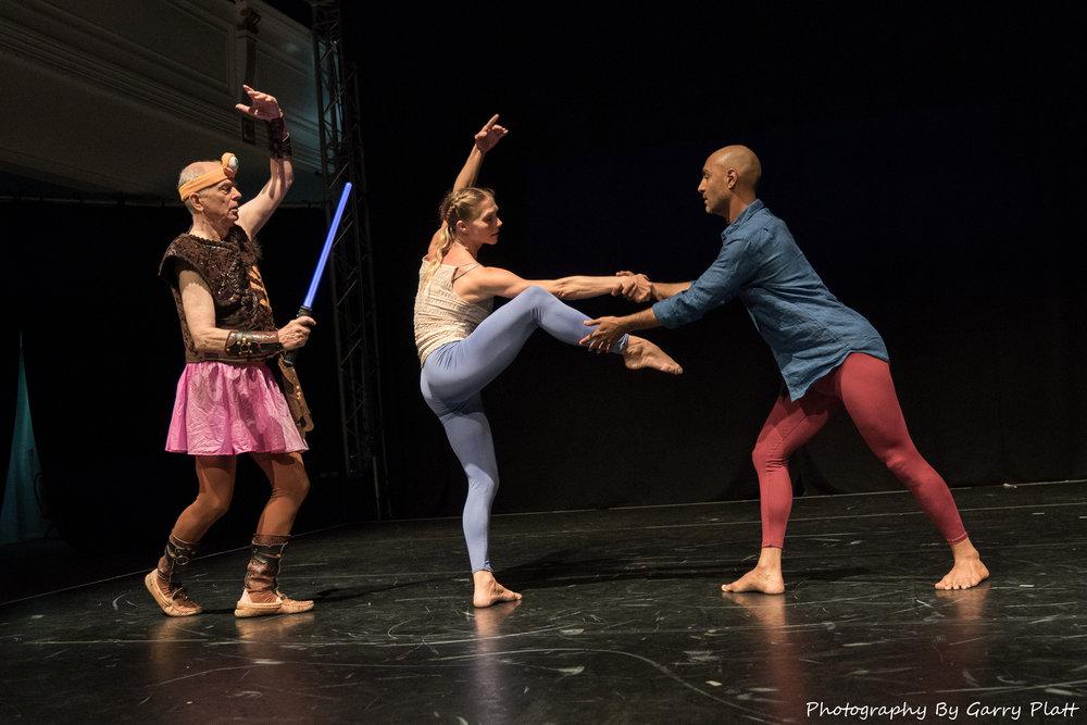 Dancers L to R: Douglas Dunn, Emily Pope, Paul Singh; Photo by Garry Platt, 2017