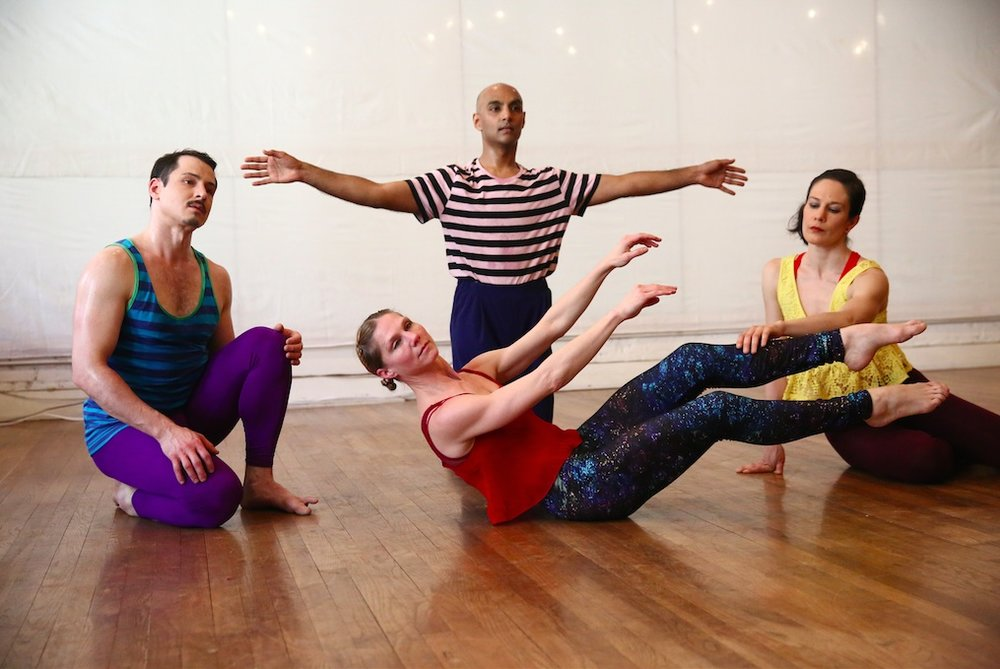 Dancers Left to Right: Jake Szczypek, Paul Singh, Emily Pope (front), Alexandra Berger. Photo ⓒ Paula Court, 2018