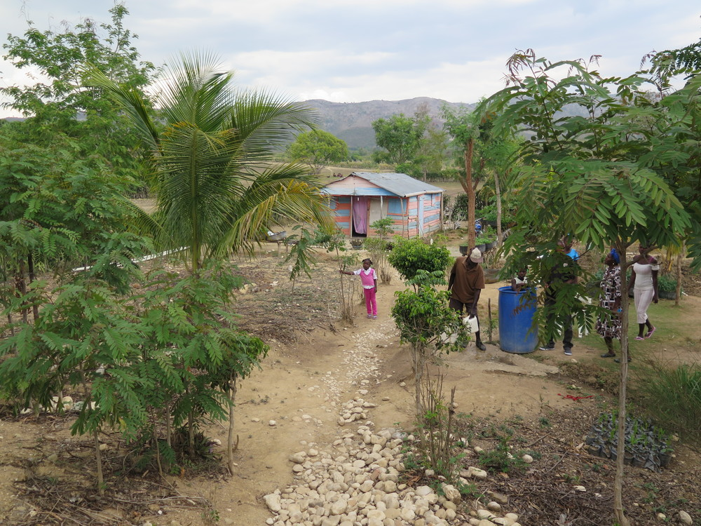 A home with garden in the EcoVillage community.