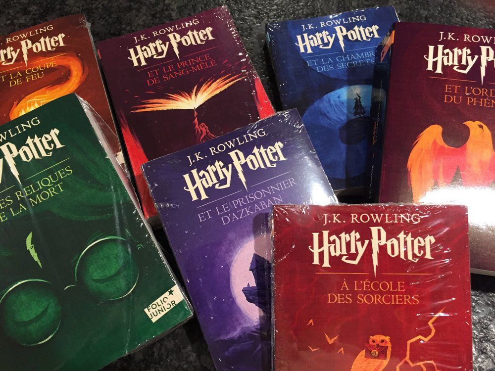 Our most ambitious experiment is the entire Harry Potter collection in French. We hope some children will become engrossed in Harry's adventures so thoroughly that they master French in the process and discover the wonder of imagination and a culture far away.
