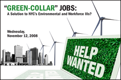 """Green-Collar"" Jobs: A Solution to NYC's Environmental and Workforce Ills?"