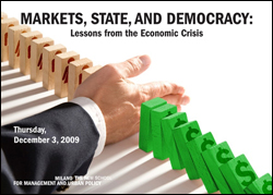 Markets, State and Democracy: Lessons from the Economic Crisis