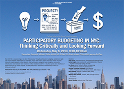 Participatory Budgeting in NYC: Thinking Critically and Looking Forward