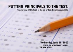 Putting Principals to the Test: Transforming NYC Schools in the Age of Data-Driven Accountability