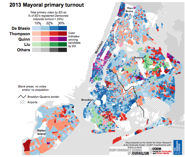 2013 Mayoral primary turnout