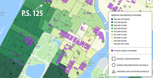 UM NYC School Segregation Center For New York City Affairs - New york city map harlem