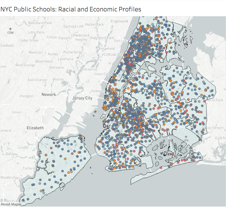 Interactive Map Of New York City.New York City S Flawed School Diversity Plan Center For New York