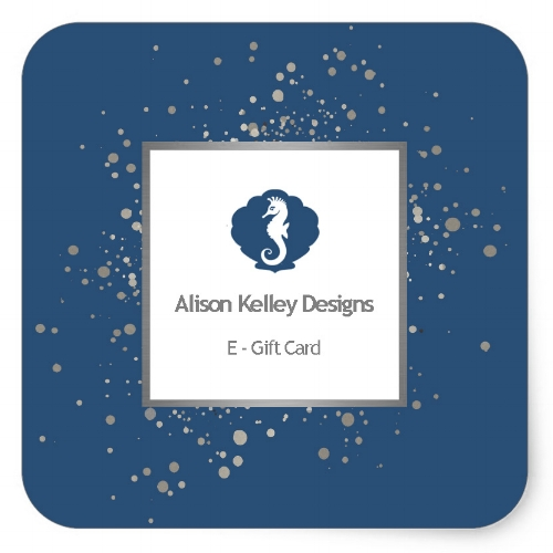 $25 - $500 - Shopping for someone else but not sure what to give them? Give them the gift of choice with an Alison Kelley Designs gift card.Gift cards are delivered by email and contain instructions to redeem them at checkout. Our gift cards have no additional processing fees. *Purchasing this digital gift card creates a unique code. The gift card recipient can enter this code at checkout to subtract the gift card value from their order total.This gift card is nonrefundable and never expires.