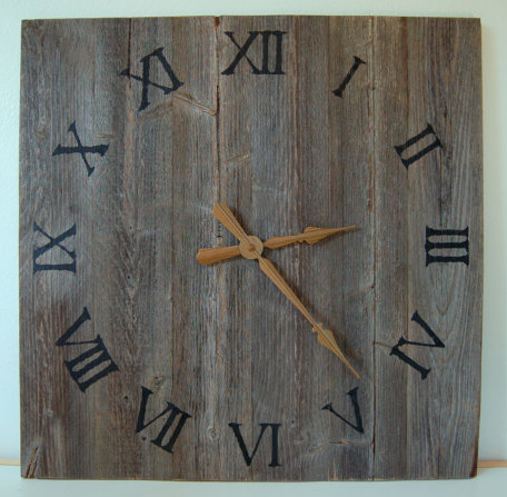Shout out to  ButternutWoods  on Etsy for this awesome clock and his other Rustic elements!