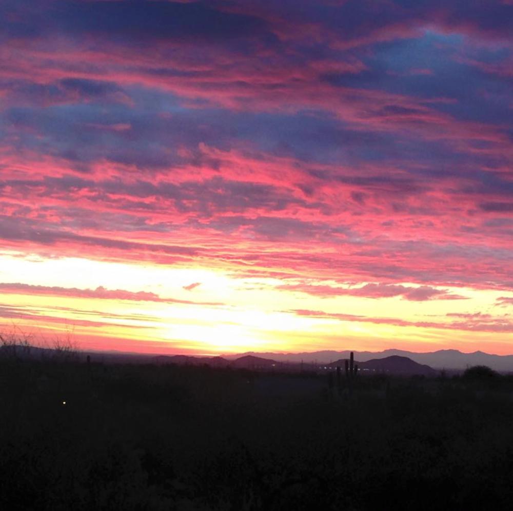 A gorgeous Arizona sunset!