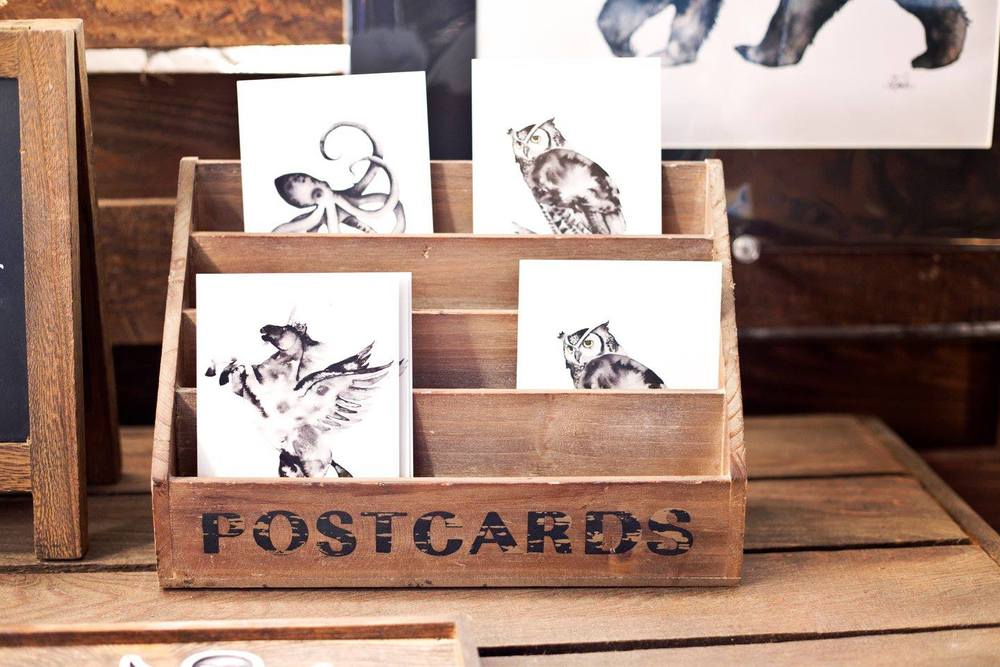 Shannon Faber Fine Arts  at our Denver Holiday Jackalope Art & Craft Fair, these postcards make perfect stocking stuffers!