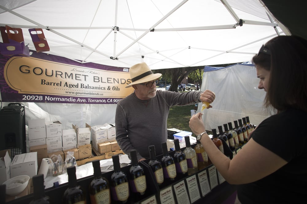 Gourmet Blends letting patrons taste their olive oils