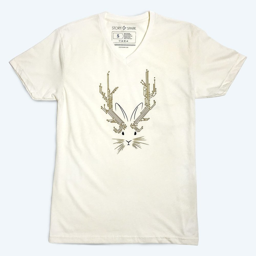 Believe-jackalope-unisex-graphic-vneck-tshirt-story-spark-1_1024x1024.jpg