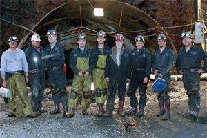 The nine miners from the Quecreek Mine accident.