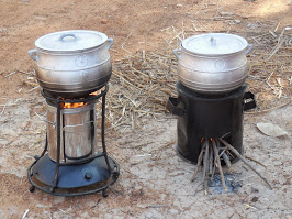 The Philips Stove (left) and the locally-made Gyapa Stove (right)