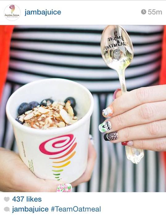 For Such A Time had the pleasure of serving Jamba Juice for their National Oatmeal Day 2014 promotional campaign. We stamped several phrases with their logo on spoons that were sent out to National Broadcast Media like the Today Show, Olympian Athletes, Magazines, and more. We are honored to have played a part!