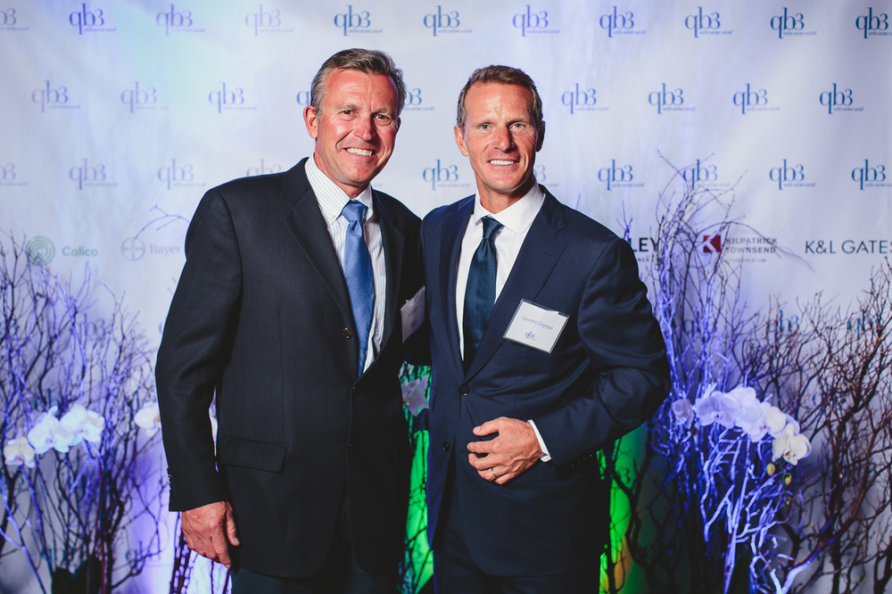 Ed Viesturs (L) with Laurent Degryse (R)