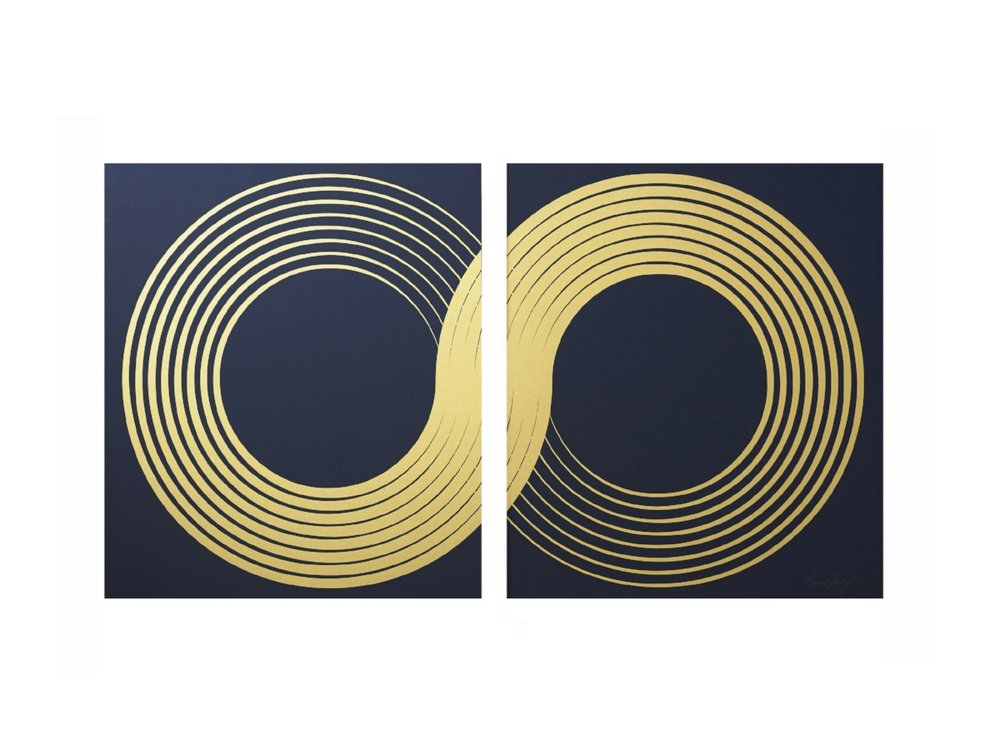Infinity Diptych (Gold Leaf)