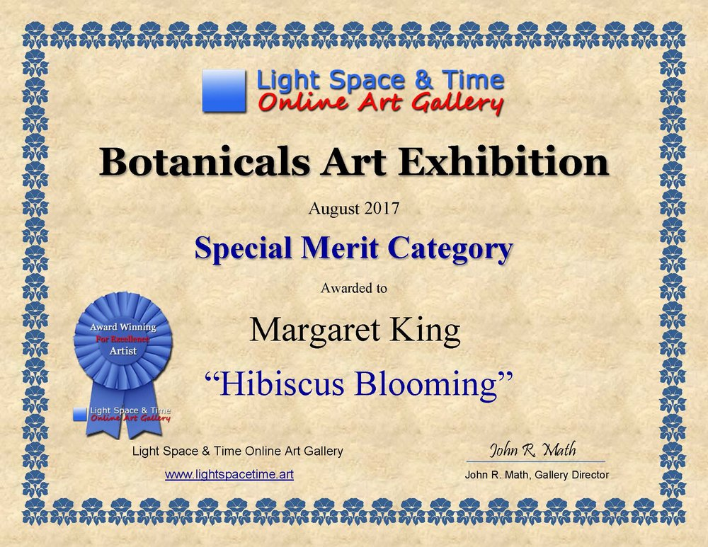 SM - Margaret King - BOTANICALS  ART EXHIBITION AWARD CERTIFICATE.jpg