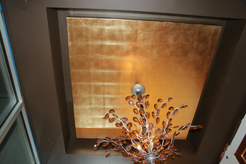 gilded gold leaf ceiling in hallway 5e0375fe6
