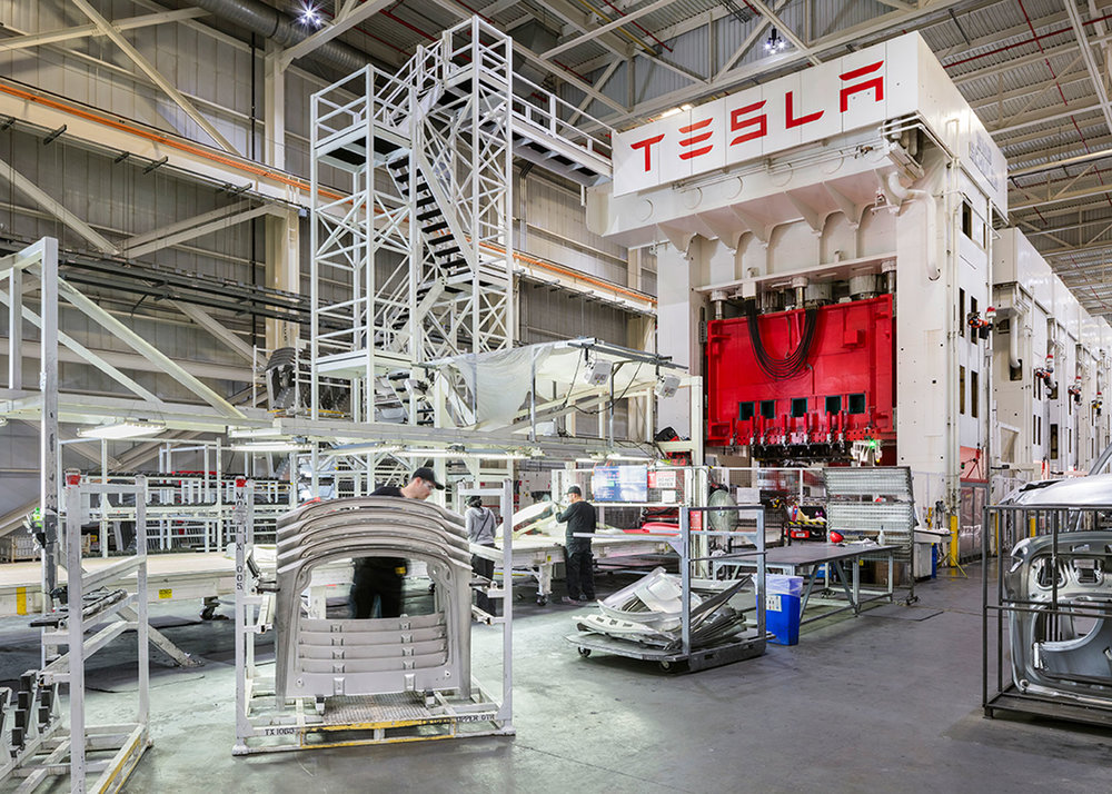 Tesla auto plant, Fremont, CA
