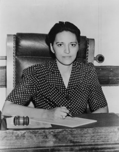 A native of Poughkeepsie, NY, Judge Jane Bolin was the first black woman judge in the U.S. She served on the Manhattan Juvenile court for forty years (1939-1979), constantly pushing for the fulfillment of democratic ideals.
