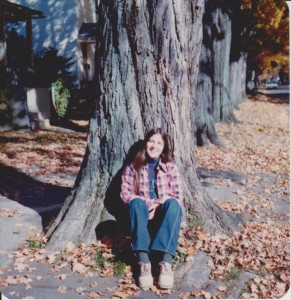 Frances Drabick by Tree