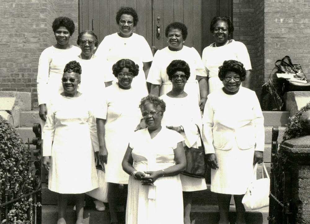 Congregants at the Shiloh Baptist Church in Hudson, NY