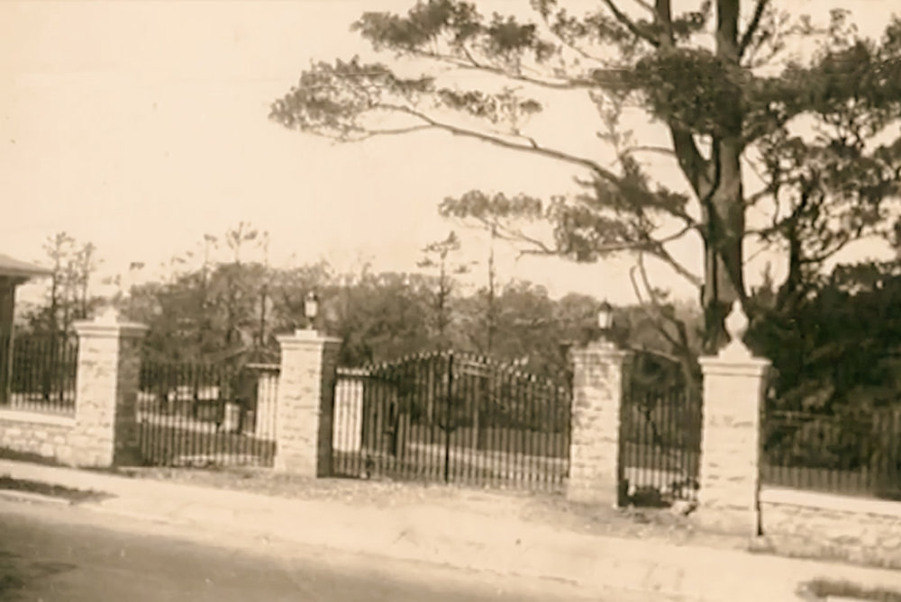 Gates to the New York State Training School for Girls from Worth Avenue. Source: Peter Tenerowicz.