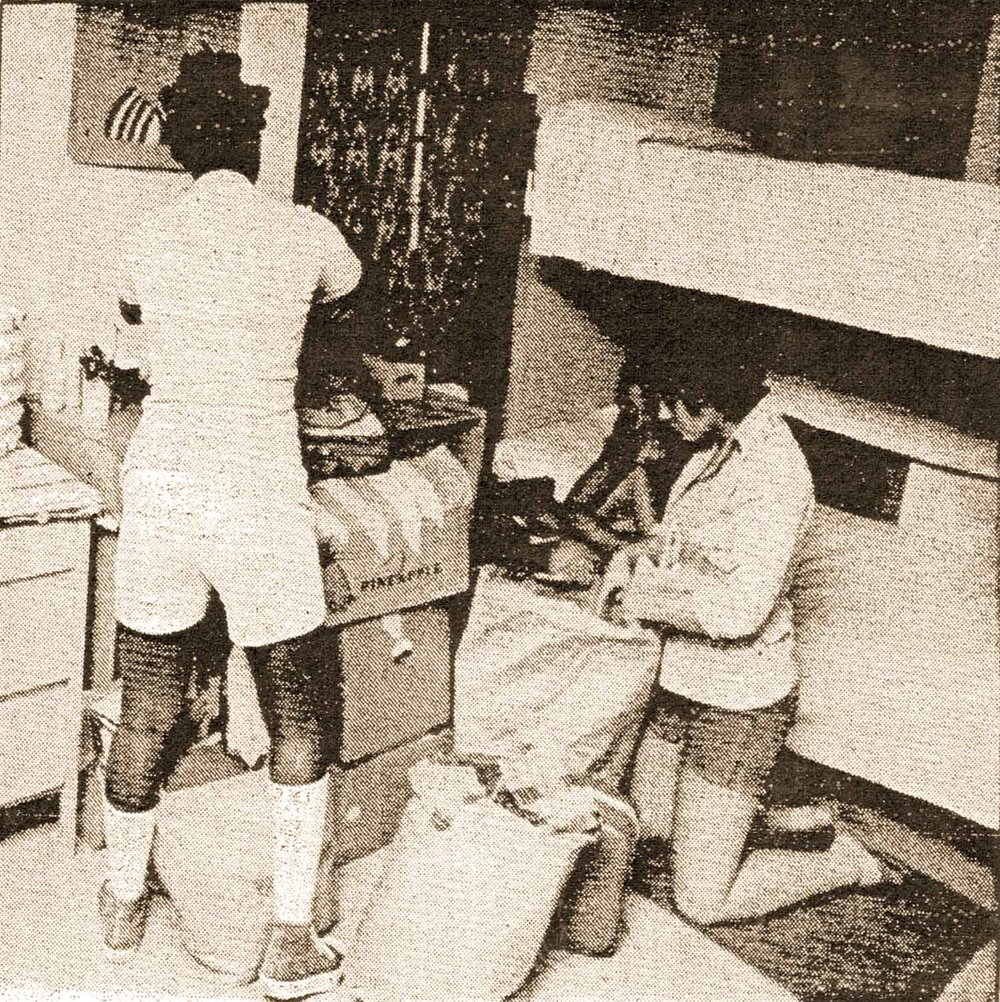 Girls' Training School residents packing their belongings. Source: Hudson Register-Star, August 19, 1975.