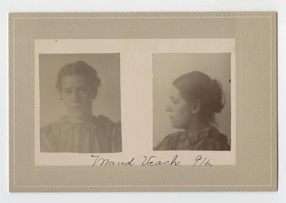 Photo portrait, Maud Veach, Prison Public Memory Project