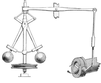 A Watt centrifugal governor. Digital image from the Wikimedia Commons (  source  ).