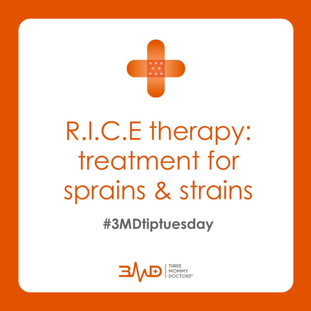 TIP TUESDAY: Wondering how to properly care for that sprained ankle? 🏃🏻‍♀️R.I.C.E. therapy is the answer.   R•est the affected limb  I•ce the area to reduce swelling  C•ompress the area with an elastic bandage  E•levate whenever possible  🚸 Be aware: some sprains can appear similar to fractures in kids. Children are more susceptible to fractures because their bones are still growing. If your child is in severe pain, the area is deformed or they are unable to bear weight, seek medical attention immediately.