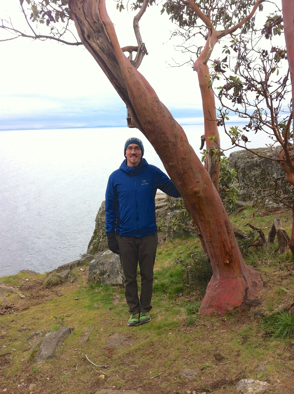 Me and Madron (Arbutus menziesii) at Lighthouse Park, West Vancouver.