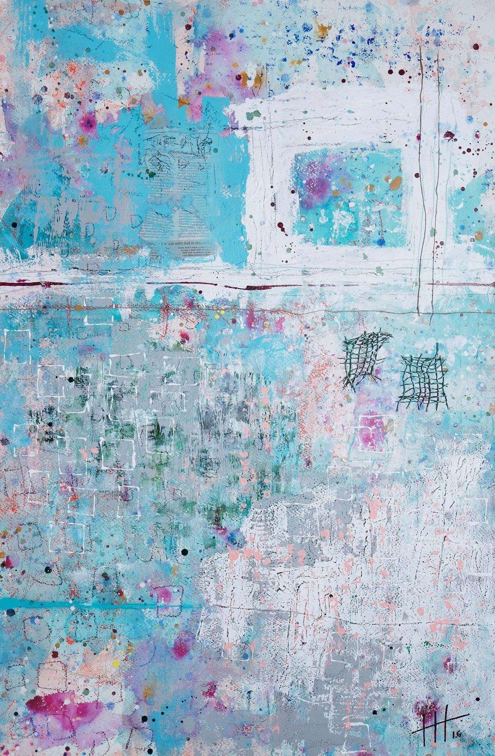 'The Secret Meadows' Acrylic & Mixed Media /129cm x 93cm (framed) £1,750