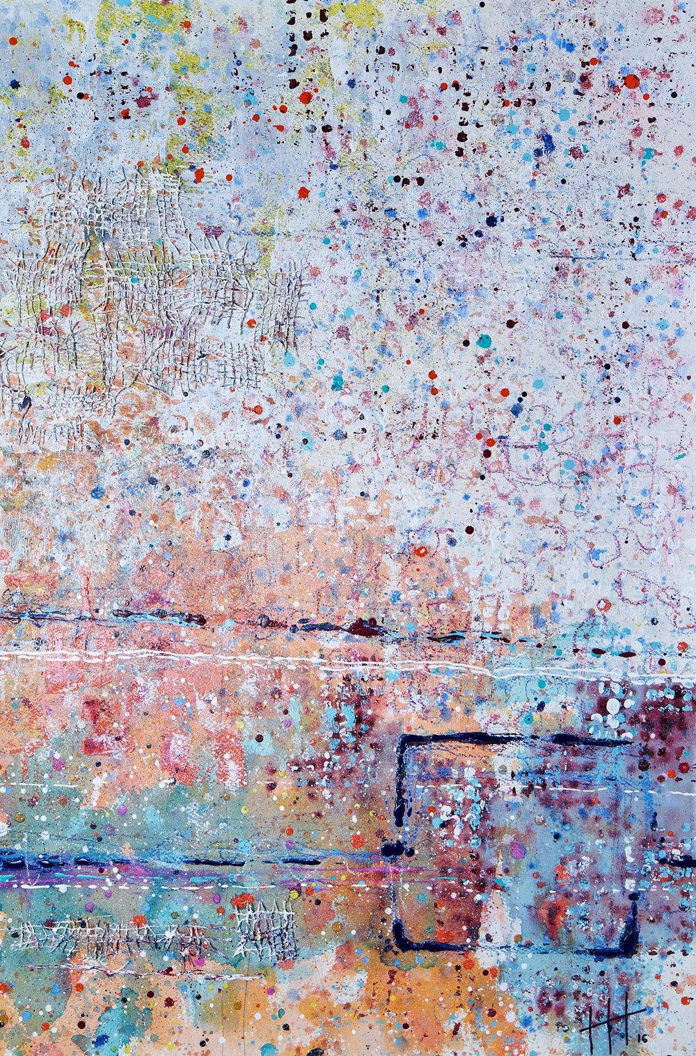 'The Slipway' Acrylic & Mixed Media / 129cm x 93cm (framed) SOLD